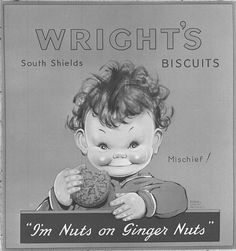 Artwork for Wrights Biscuits This is one of the wrapper artworks for Wright's Biscuits, taken by Turners Photographic of Newcastle.