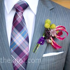 your groom will be wearing a tie like this at your wedding...but maybe not in purple, pink, and blue