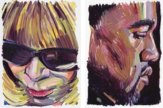 Johanna Goodman's gets up close and personal with her illustrations of faces