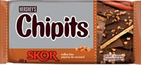HERSHEY'S Kitchens Canada | CHIPITS® SKOR®* Toffee Banana Rum Bread....they never make it that close to any baked goods. Lol