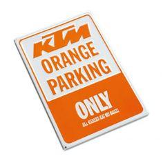 KTM PARKING SIGN