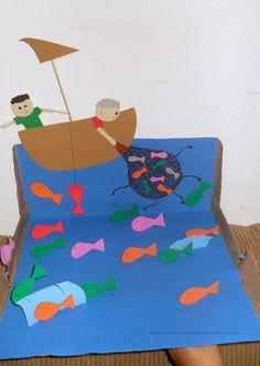 La pesca miracolosa miracoli pinterest la pesca - Artigianato per cristiani ...