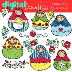 RUSSIA: Going on a Deaf mission trip to Russia? Scrapbook your memories/experiences! (digital russian dolls)