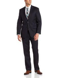 Tommy Hilfiger Men's 2 Button Side Vent Flat Front Nathan Suit,  Navy Tic, 38 L Tommy Hilfiger,http://www.amazon.com/dp/B00DU7KFWS/ref=cm_sw_r_pi_dp_zvJVsb11V3MBFEKY
