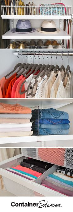How To Make More Room In Your Closet. 1. Get Rid Of Anything You Havenu0027t  Worn In The Past Year. 2. Clear Out Things That Donu0027t Belong In The Closetu2026