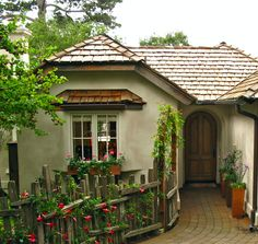 Cottages Covered In Flowers |