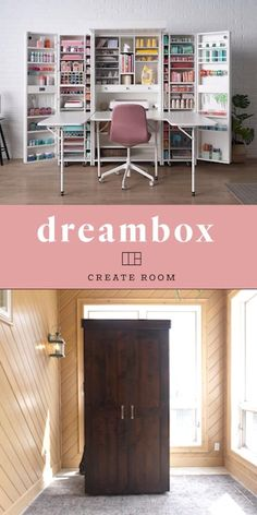 Backyard Landscaping Discover DreamBox Everything you own in view in reach in seconds. The ultimate craft room! Sewing Room Design, Craft Room Design, Craft Room Storage, Craft Room Closet, Art Studio Storage, Ikea Craft Room, Sewing Room Storage, Craft Room Decor, Small Craft Rooms
