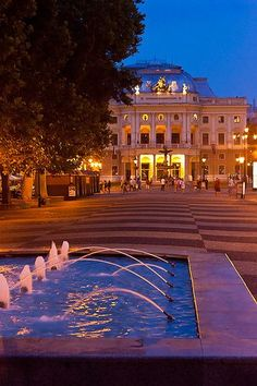 The Slovak National Theatre, Bratislava, Slovakia Places To Travel, Places To Go, Schengen Area, Bratislava Slovakia, Continental Europe, Heart Of Europe, National Theatre, Church Building, Central Europe
