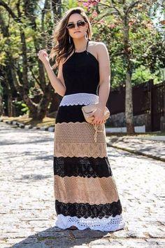 Fashion Tips Outfits .Fashion Tips Outfits Crochet Summer Dresses, Crochet Skirts, Crochet Clothes, Diy Crafts Dress, Knit Dress, Dress Skirt, Hippie Crochet, Dress Tutorials, Crochet Woman