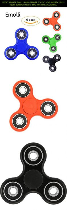 Fidget Spinner, Emolli Hands spinner Toy EDC ADHD Anxiety Stress Relief Boredom Killing Time Toys for Adults Kids Students 4 Pack #parts #kit #camera #products #metal #pack #fpv #shopping #spinner #tech #technology #multi #plans #gadgets #racing #drone