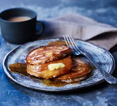Our simple Scotch pancakes make a quick and easy breakfast the whole family will love. Serve with butter and maple syrup for the perfect brunch treat Delicious Breakfast Recipes, Bbc Good Food Recipes, Easy Dinner Recipes, Baby Food Recipes, Cooking Recipes, Cooking Stuff, Easy Recipes, Pancake Recipe Bbc, Pancake Recipes