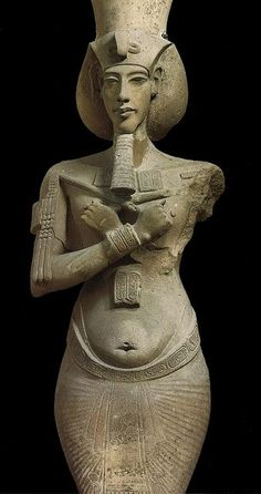 Colossal Statue of Akhenaten from Karnak. Located in the Egyptian Museum, Cairo.