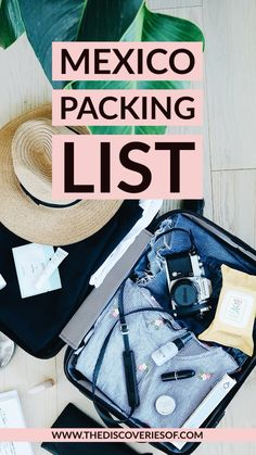 Planning to travel to Mexico? Don't miss this step by step Mexico packing list - what to pack for your Mexico travels. Packing List For Vacation, Packing Tips, Travel Packing, Travel Usa, Travel Guide, Travel Hacks, Paris Travel, Travel Advice, Travel Quotes