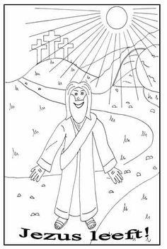 Kleurplaten Pasen Knutselen.Jezus Leeft Kleurplaat 1000 Images About Pasen Knutselen Kleuren