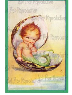 QUILT FABRIC BLOCKS MERBABY POSTCARD ILLUSTRATION PRINT