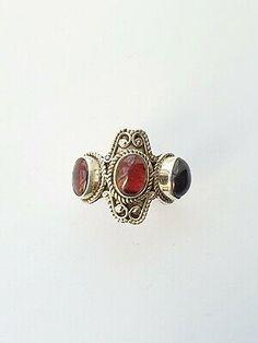 Garnet Rings, New Shoes, Gemstone Rings, Sterling Silver, Metal, Jewelry, Style, Swag, Jewlery