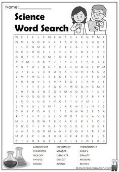 words search * words search + words search for kids + words search worksheet + words search puzzles Science Word Search, Kids Word Search, Word Search Puzzles, Word Puzzles, Science Words, Math Words, Science For Kids, Science Quotes, Science Facts
