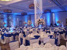Wedding, Flowers, Reception, White, Blue, Silver, Linda smith weddings