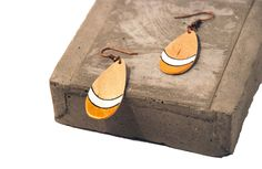 wooden earrings Wooden Earrings, Handmade, Wood Earrings, Hand Made, Handarbeit
