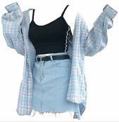# 11 – Outfits, make up, jewelry's etc – – Grunge Outfits Edgy Outfits, Teen Fashion Outfits, Retro Outfits, Cute Casual Outfits, Outfits For Teens, Fashion Clothes, Girl Outfits, Grunge Outfits, Summer Outfits