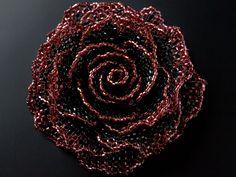 キラキラワインの2トーン薔薇ビーズコサージュ #bead #beads #beaded #beadedflower #beadwork #bijou #bijoux #beadedjewelry #gorgeous #kawaii #corsage #brooch #handmade #handcrafted #handmadejewelry #instajewelry #accessories