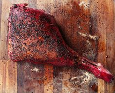 BBQ Leg of Lamb with a Hibiscus Marinade - Food Stories - Helen Graves Hibiscus, Legs, Food, Essen, Meals, Yemek, Bridge, Eten