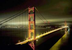 Golden Gate Bridge - San Francisco Ahhhhh my City. Ponte Golden Gate, Golden Gate Bridge, Oh The Places You'll Go, Places To Travel, Places To Visit, Monuments, San Francisco Bridge, New York City, Mellow Yellow