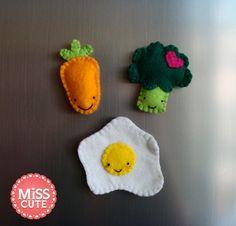 Food felt fridge magnets