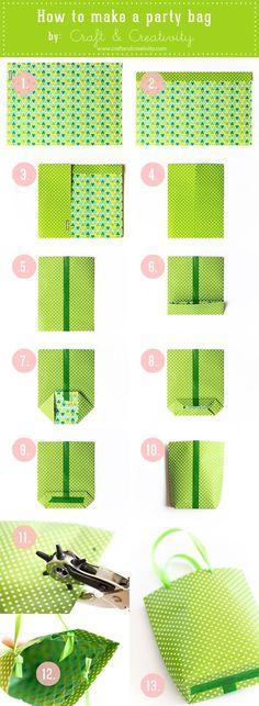Cómo hacer bolsitas para fiesta paso a paso :) DIY Party bags