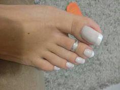 WDP Pretty Toe Nails, Cute Toe Nails, Pretty Toes, Toe Nail Art, Long Fingernails, Nice Toes, French Pedicure, Beautiful Toes, Feet Nails