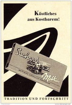 Original-Werbung/Anzeige 1957 - SUCHARD MILKA SCHOKOLADE - ca. 65 x 90 mm