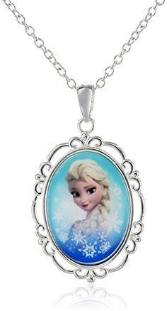 "Disney Girls' ""Frozen"" Silver-Plated Elsa Pendant Necklace, - Go Shop Jewelry Disney Princess Toys, Disney Princess Dresses, Disney Girls, Punk Disney, Disney Princesses, Little Girl Toys, Baby Girl Toys, Toys For Girls, Frozen Necklace"