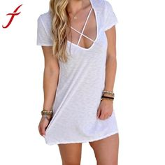 30a53a0ddfb Gender  Women Waistline  Natural Decoration  None Sleeve Style  Regular  Pattern Type  Short Summer DressesShort Mini ...