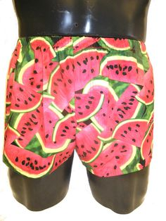 f221b301dd3c3 Mens Short Cotton Boxers Boxer Shorts Watermelons S M by MoonersUK Cotton  Boxer Shorts, Watermelon Fruit