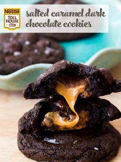 Salted Caramel Dark Chocolate Cookies