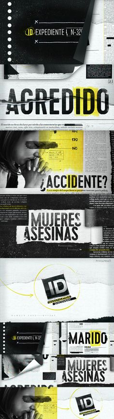 style frames - motion graphic design Id investigation for discovery. This piece is the first of four pieces that were performed considering the journalistic investigation, suspense and tension generated for the channel's content . Portfolio Diego Troiano. Currently working in Discovery Latin Channels. Creative Director: Diego López Calvo. Script: Celeste Ansón. Design and animation: Diego Martín Troiano. Music: Ronald Vando Montero. All work is owned by Discovery Latin American Channels.