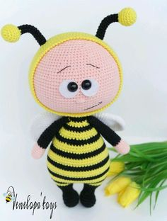 Куклы тыквоголовки ручной работы. Ярмарка Мастеров - ручная работа. Купить Мальчик в костюме пчелки. Handmade. Игрушка ручной работы