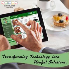 We are making technology useful for restaurants all over the world. Know more here: www.imenucards.com  #imenu #tabletmenu #digitalmenu #ipadmenu