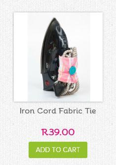 Iron wrap available from www.neatfreak.co.za