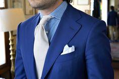Abito blu uomo abbinamento cravatta model