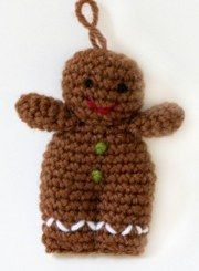 1500 Free Amigurumi Patterns: Gingerbread Man Amigurumi Pattern