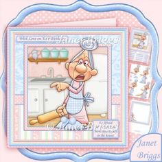 Be Afraid Menopausal Lady in the House Decoupage & Insert Mini Kit