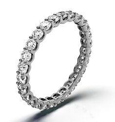 CHLOE PLATINUM DIAMOND FULL ETERNITY RING 1.00CT H/SI