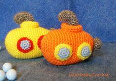 Amigurumi Submarine, Crochet Submarine, Amigurumi Toy, Amigurumi Softie, crochet…