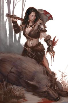 Female barbarian warrior