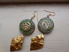 Buffalo Woman's Observation Stones - Hand Made Natural Crystal and Orgonite Earrings  See these and our unique orgonite jewelry on Etsy!