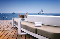 Lavish Floating Beach Bar And Terrace At The Luxurious Monaco Life Club