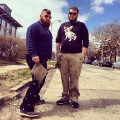 Man how I love these two!!! They always kill!!   bearjewnyc:  Puppy love.