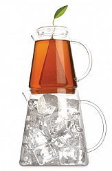 Two hand-blown, heat-resistant glass pitchers stack to offer a stylish and smart tea service: Hot tea is brewed in the upper pitcher, then flash-chilled in the one below. Color(s): clear . Brand:...