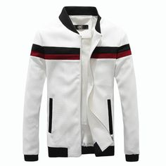 >> Click to Buy << 2017 spring autumn Fashion patchwork Jacket male Stand zipper Slim Fit men jackets casual mens jackets and coats Overcoat #Affiliate